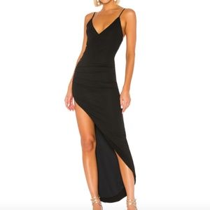NBD Princess Bride Gown Black Maxi Asymmetrical